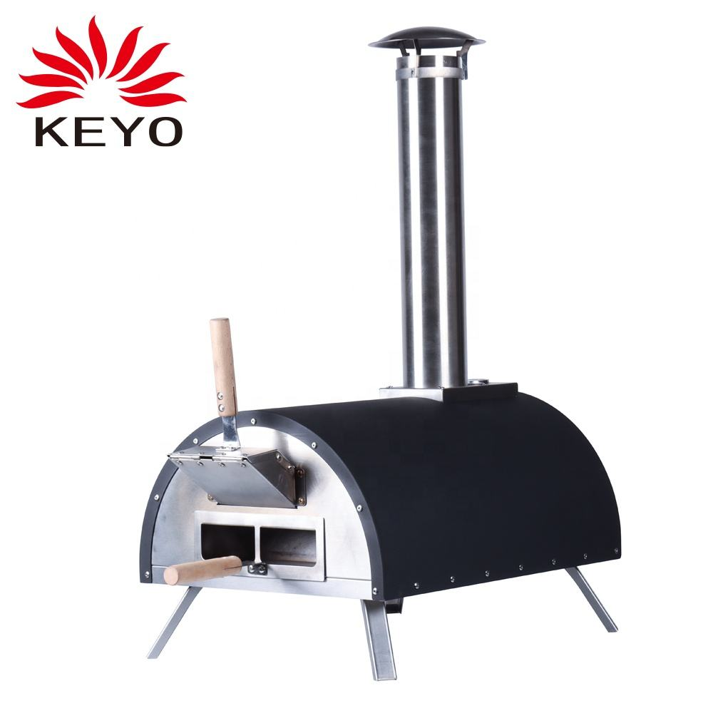 2021 New Design KEYO Outdoor Garden Patio Italian Portable Pellet Wood Fired Baking Pizza Oven With Pizza Stone