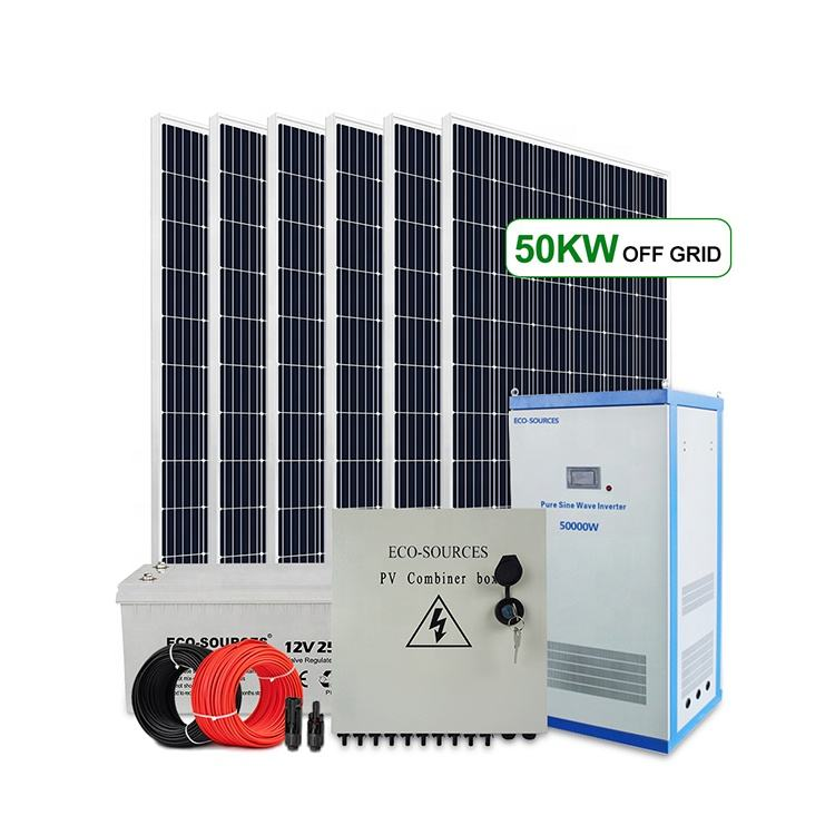 Factory storage energy 150kw 100kw 50kw commercial off grid solar system