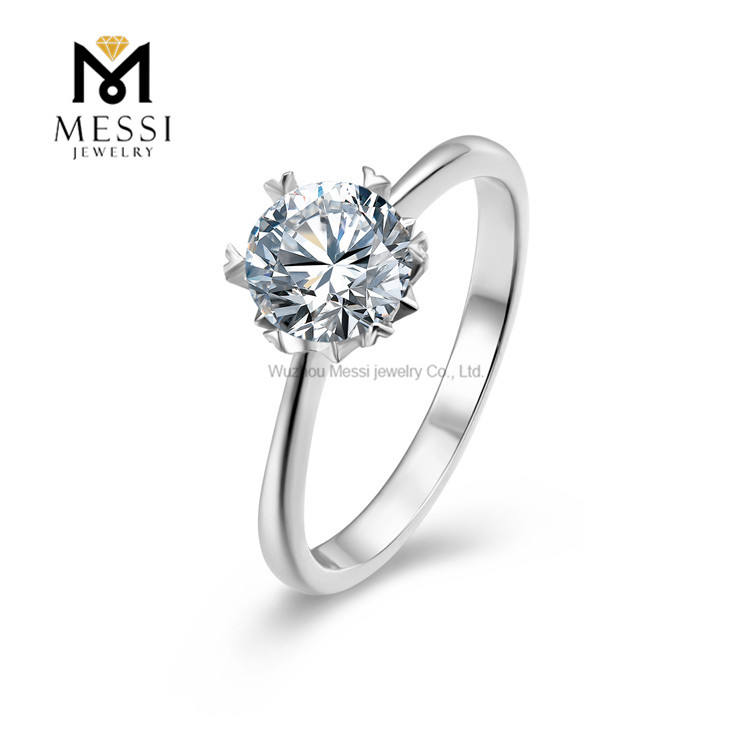 Messi Jewelry fashion 18k gold plated silver rings 925 silver moissanite stone gemstone sterling 925 silver ring