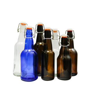 500ml high quality amber glass beer bottle with swing top cap CY-087