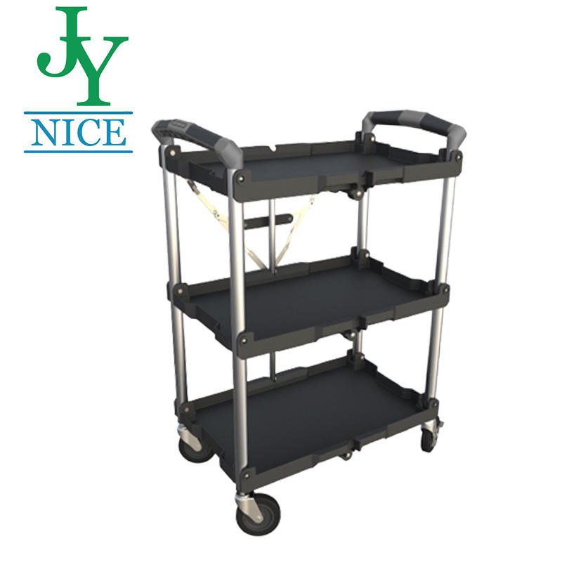 Folding Kitchen Service Trolley Cart For Home/Restaurant/Cooking factory wasrehouse Mobile Moving plastic Tool cart