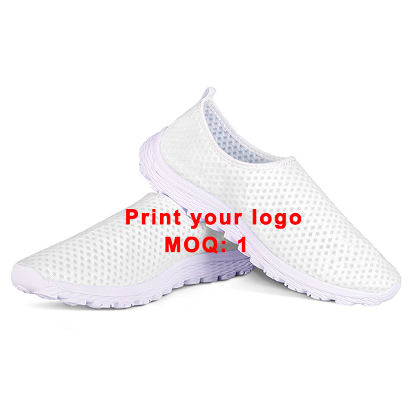 FORUDESIGNS custom printed quick dry slip on mesh running shoes light weight breathable sport shoes for men and women