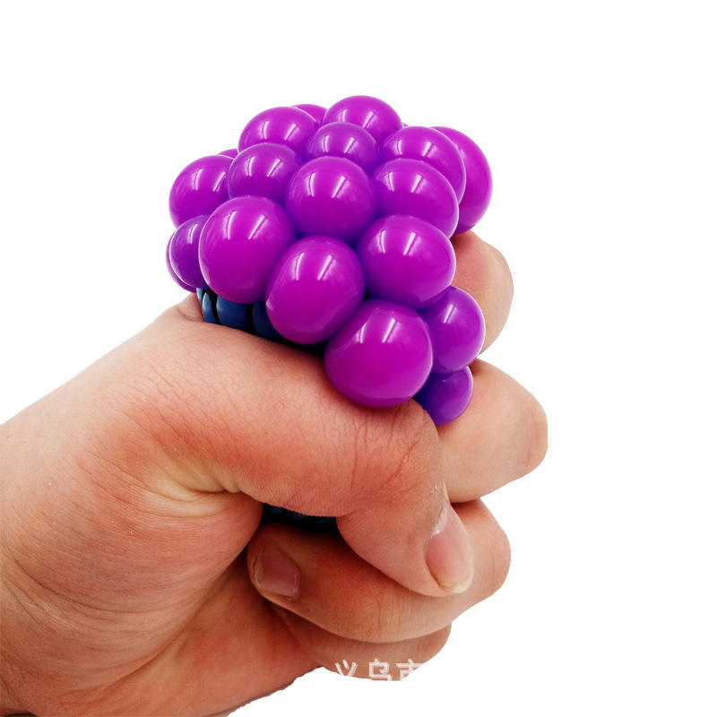 Grape ball Squeeze indestructiblely pressure relief toy Anti-stress Kids Funny creative squeeze water polo Squishy Toy