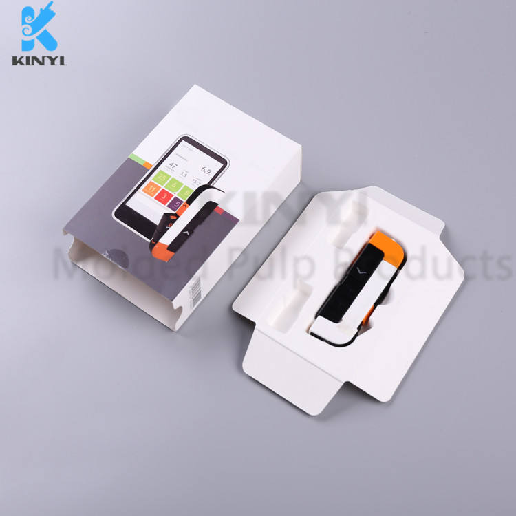 Eco friendly thermoformed pulp products packaging for chargers