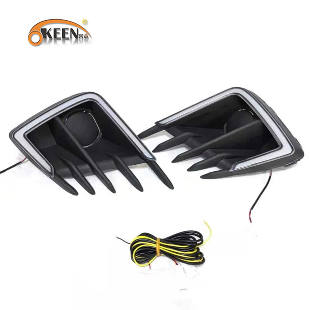 KEEN High Configuration 12V DRL For City 2020 Daytime Running Lights drl fog lamp Driving lights fog