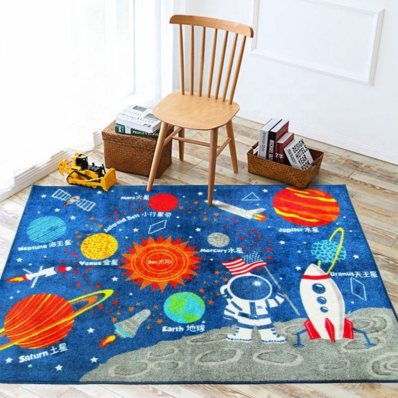Dotcom Nylon Pile Latex Backing Soft Safety Eco-friendly Foldable Star Play Mats for Children