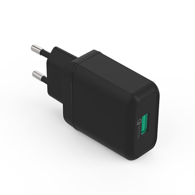 Input 100-240V/0.5A DC 5V 3A 18W Quick Charge 3.0 USB Charger Adapter