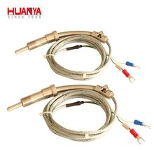 E type stainless steel material Spring bayonet thermocouple with probe