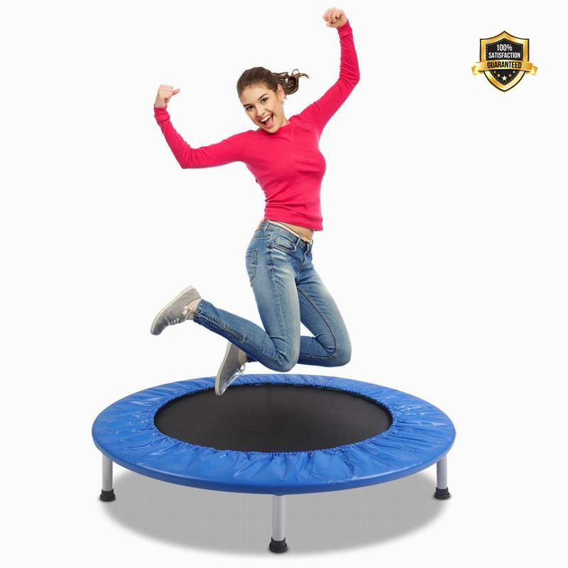 Gym Equipment Fitness Exercise Indoor outdoor Gymnastic Mini Trampoline for Kids and Adults Workout Max Load 330lbs