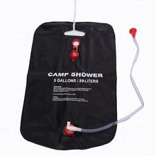 PVC 5 Gallons 20L Portable Plastic Camping Shower Bag outdoor Solar shower for camping