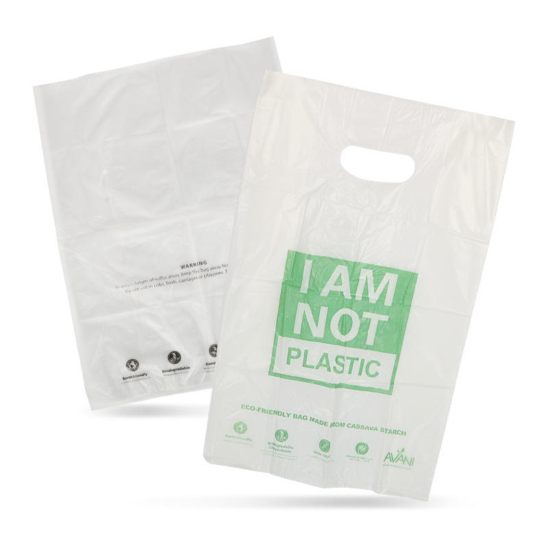 wholesale pbat+pla biodegradable compostble customized t-shirt plastic shopping bag