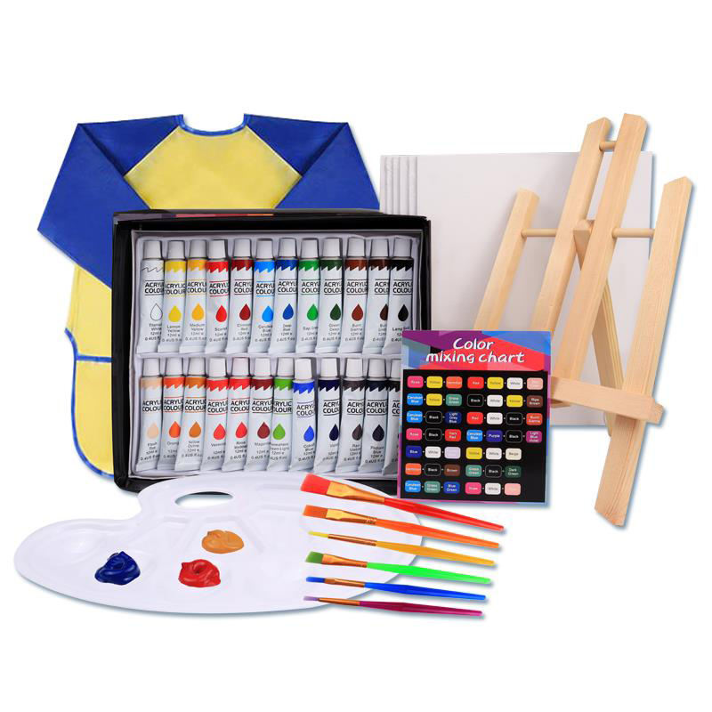 XBW 39 Pcs Art Painting Set Acrylic Paint Set Kids Art Set Acrylic Painting Supplies Kit with Storage Bag