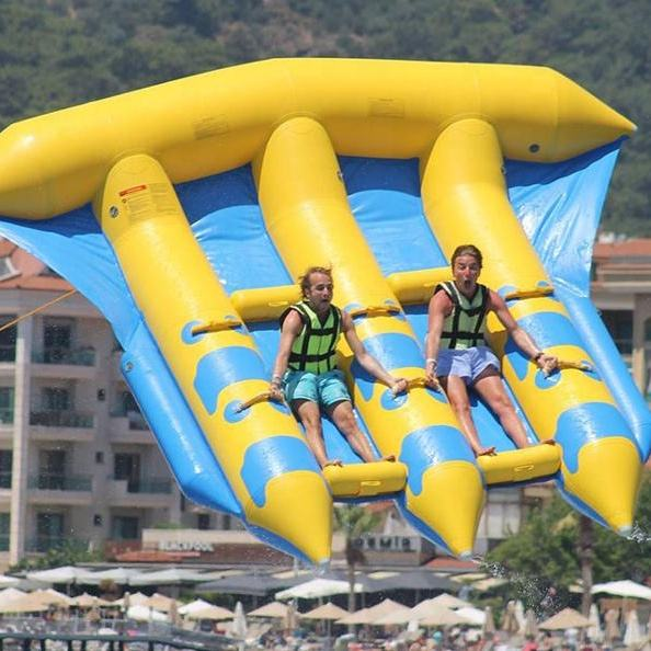 Commercial Inflatable Flying Fish Towable Banana Boat For Extreme Sport