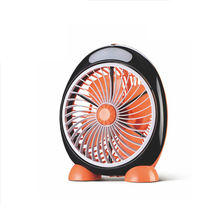 6 inch Small USB Table Fan with mini LED lithium battery