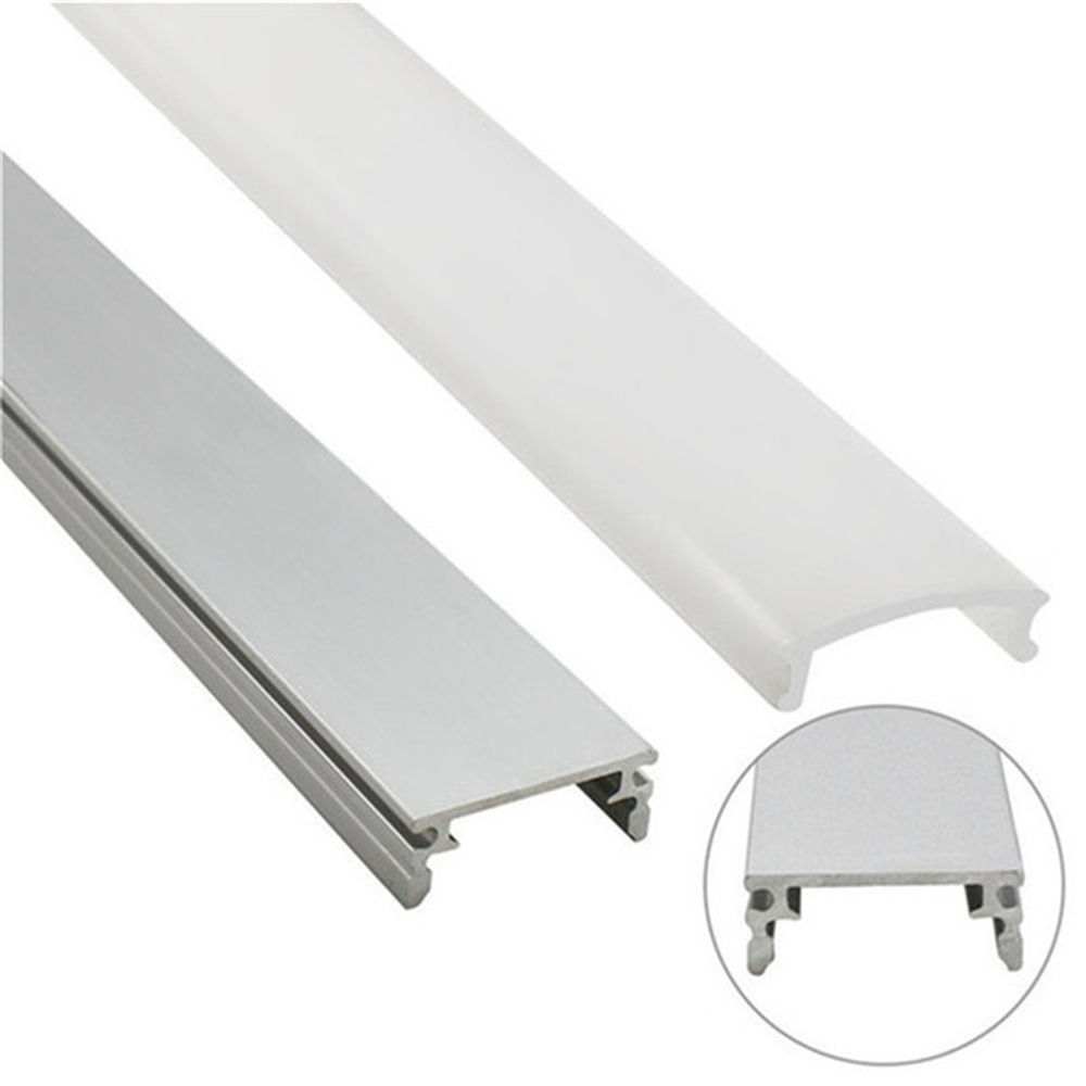 Frosted /Clear/Opal Diffuser Lens Slim Flat Thin Led Anodized Aluminum Profiles /Extrusion Pc Cover For Led Strip Light