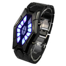 reloj de hombre New fashion iron samurai unisex lover led watch strong fortitude Cool electronic watches reloj mujer