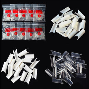 Top Selling Fake Nails Tips Korea 500pcs/bag Natural Clear White French Nail Tips