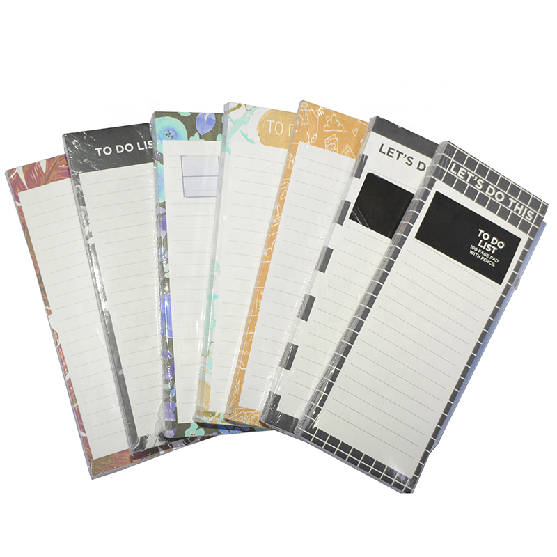 custom Magnetic Paper Notepad Planner Shopping List Memo Pad To-Do Planning Grocery List notepad