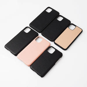 custom full grain pebbled leather cases cover for iphone 11