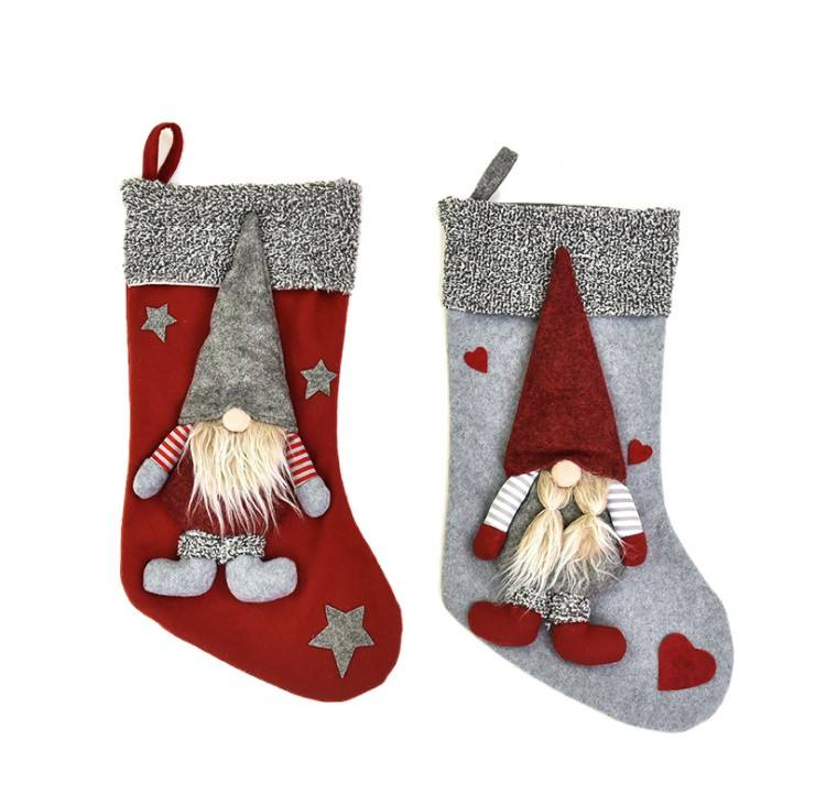 Christmas Stockings Sock Faceless Old Man Elk Stocking Navidad New Year Xmas Candy Bag Gift Christmas Tree Decoration Ornaments