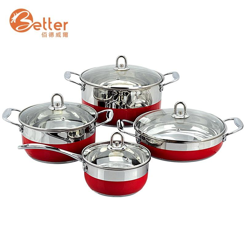 New Item Kitchen Cooking Prestige German Stainless Steel Cookware Set