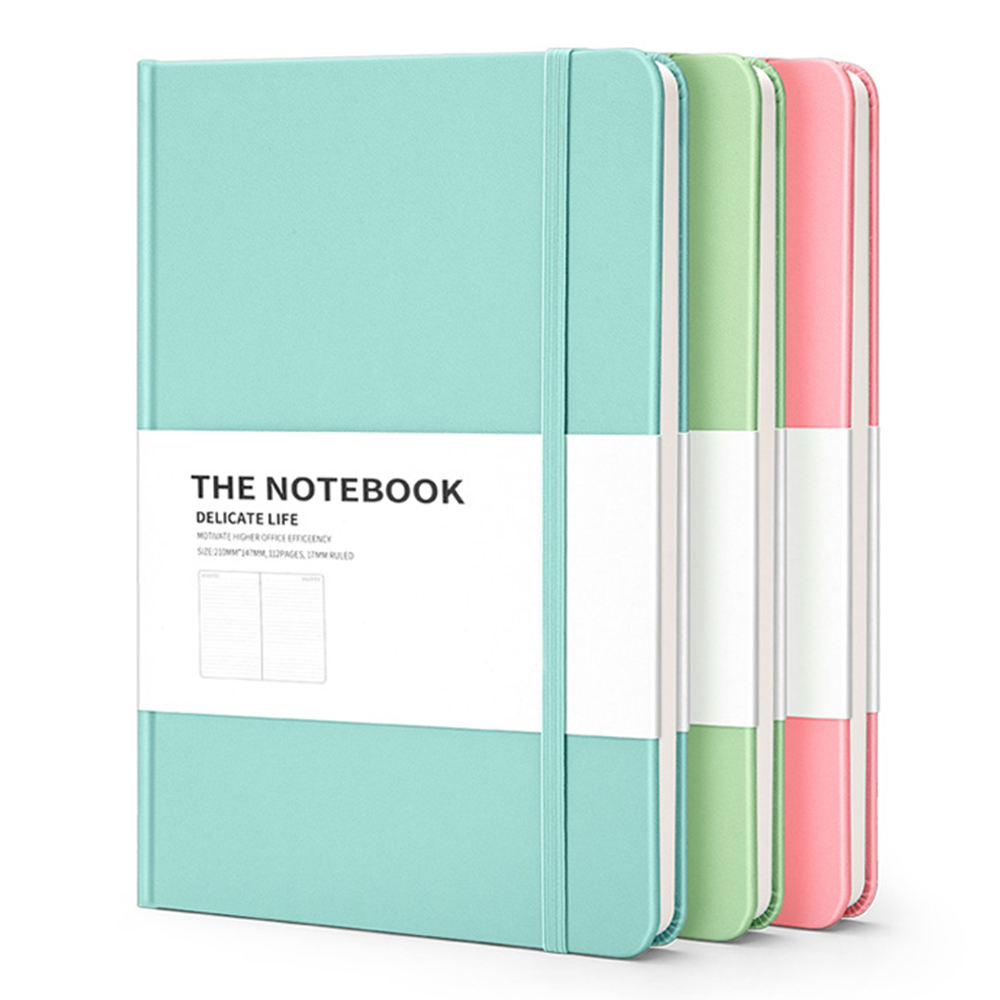 Wholesale Plain PU Leather Cover Macaron Notebook Diary Promotional Journal Agenda