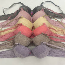 001 women's underwear large bra large size iron free / steel wire bra cotton CD large cup lace bra