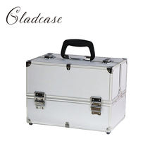 Portable Aluminum hard case travel makeup train cosmetic vanity box Professional Portable Makeup case for teens