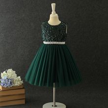 Corduroy autumn new children's birthday party wedding dress