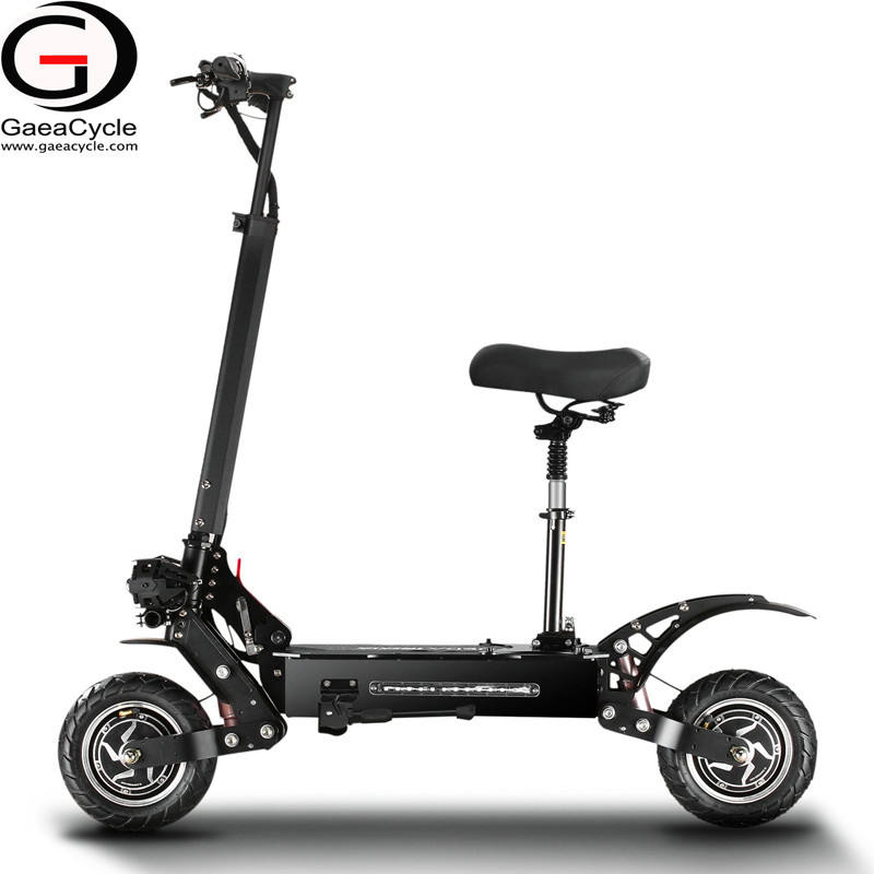 long range powerful offroad 5600W mobility 60v snow folding adult fat wheels foldable dual motor with seat electric scooter