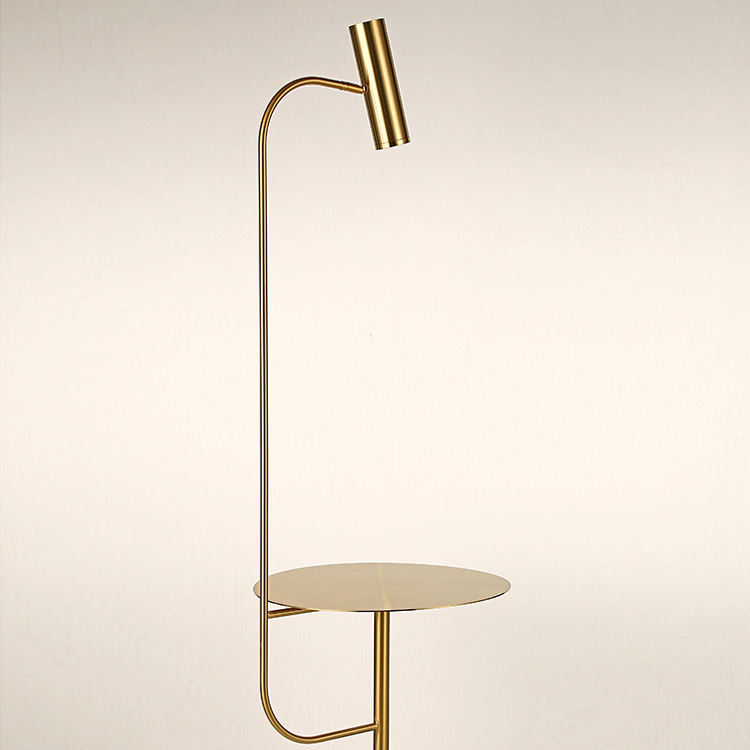 Gold Long Luxury Led Standing Lighting Fixtures Stand Nordic Unique Shelf Floor Lamp