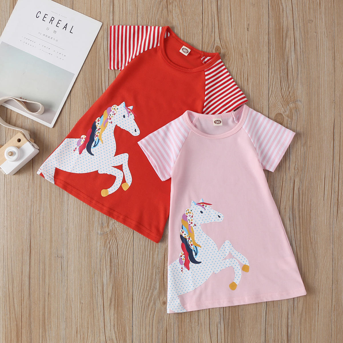 2020 Toddler Dresses for Girls Clothes Brand Cotton Christmas Princess Dress Unicorn Kids Dresses Children Clothing