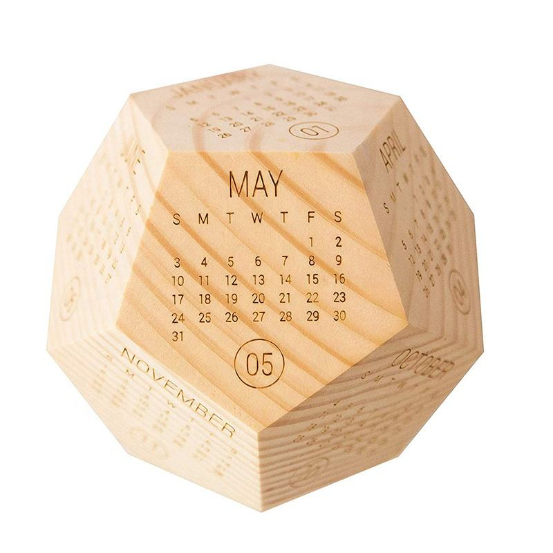 2020 Calendar Desktop Decoration Best Present Solid Wooden Calendar