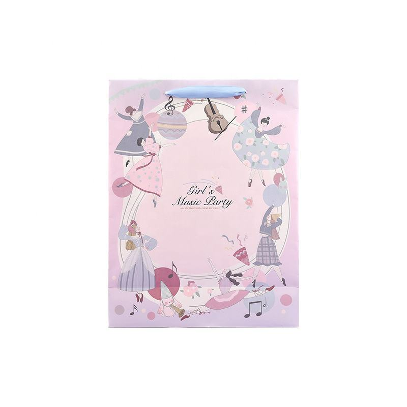 Music Party Pink Packaging Bag Ballet Bag Dance Paper Gift Bags Paper Logo Cow Print Summer Hand Packaging Bags For Women From
