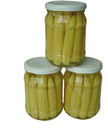 Canned Baby Corn in glass jar 370ml canned vegetables