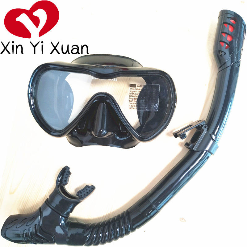 Diving goggles snorkel set 2020 new silicone anti-fog diving glasses large frame full dry swimming mask rubber adult snorkeling