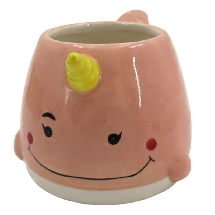 China suppliers glaze home goods ceramic mug coffee ceramic Narwhal Mug with handle new ceramic cup