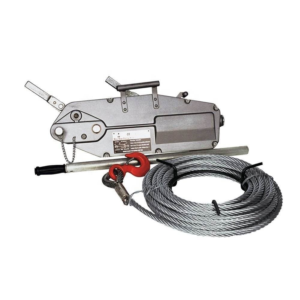 5400kgs hand pulling wire rope winch manual cable hoist
