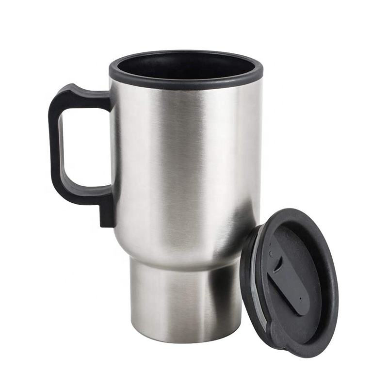 12v stainless steel travel coffee mug cup electric coffee mug car heating cup for hot Water Coffee Tea