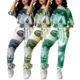 Custom Logo 2021 Fashion Trendy Two Piece Dollar Print Set Crop Top And Pants Set