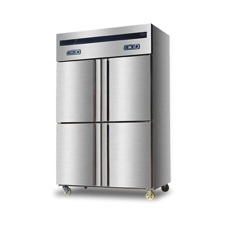 Good Price Commercial Deep Freezer 4 Door Refrigerator Stainless Steel Fridge