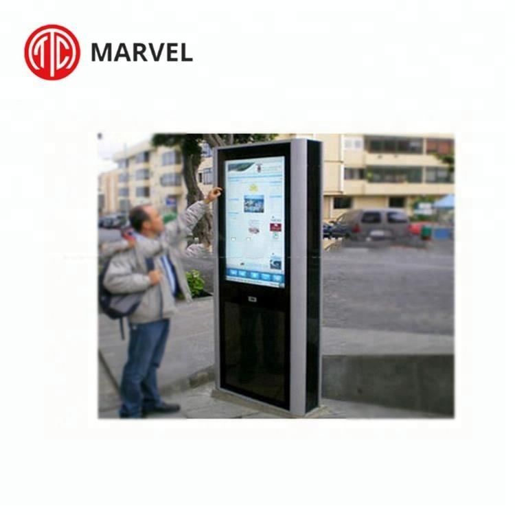 Resistente agli agenti atmosferici Interattivo HD Stand Alone LED hd all weather pubblicità esterna ip65 <span class=keywords><strong>lcd</strong></span> totem digital signage
