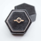 Guorui Top Antique High Ring Wholesale Luxury Hexagon Jewelry box Grey Jewellery wedding ring Box European Small Velvet Ring Box