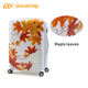Universal job lots abs poly-carbonate maple leaf printed hard luggage