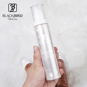 Private Label Long Lasting Waterproof Body Luminizer Bronzing Glow Shimmer Body Lotion For Skin Glow Shimmering