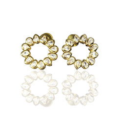 Fashion latest design brand earrings wholesale hot fashion hoop petal earrings for women