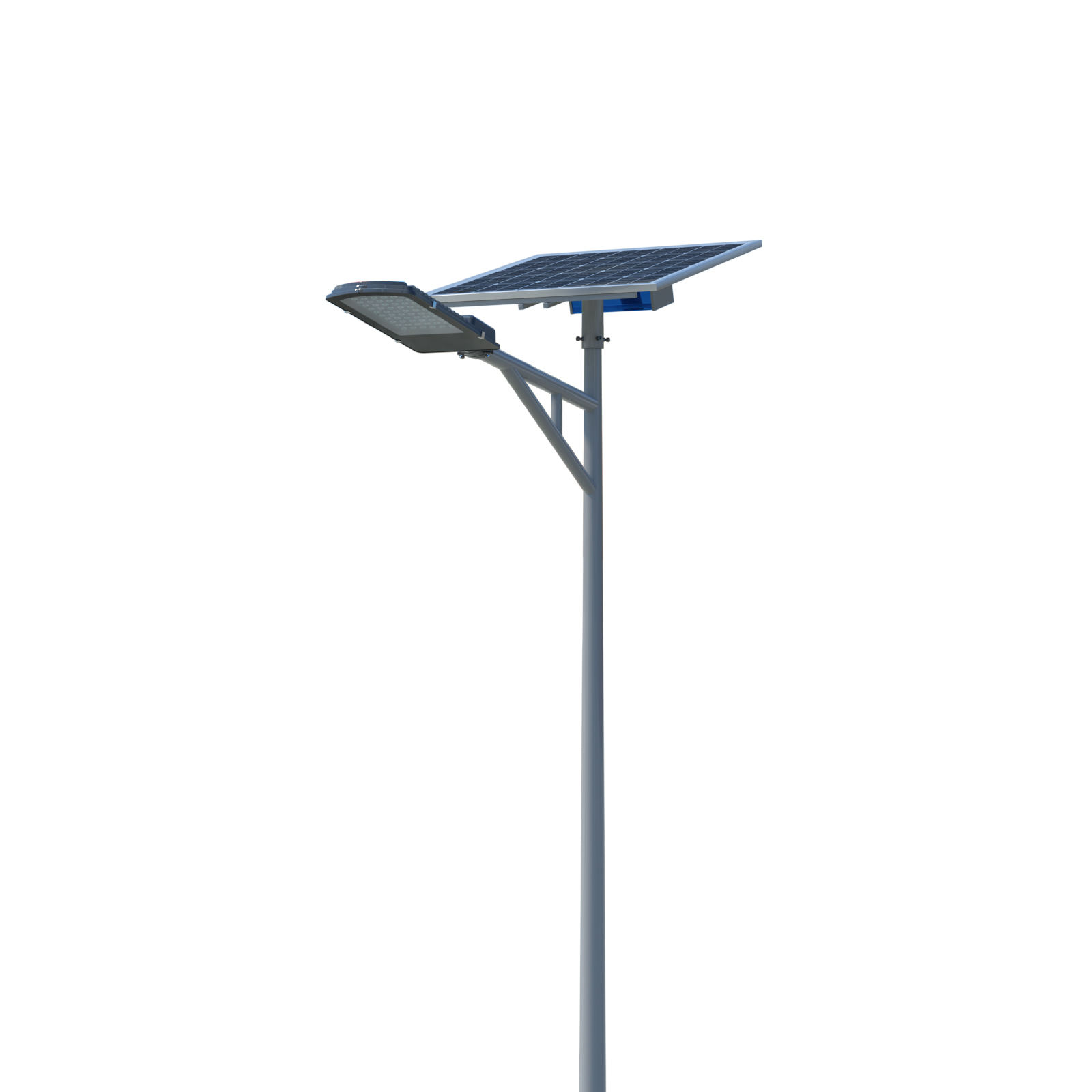 Stand alone automatic lighting MPPT 30w solar led street light with 6m pole