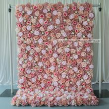 LFB1669 Promotional wholesale perfect non-fading artificial flower wall backdrop