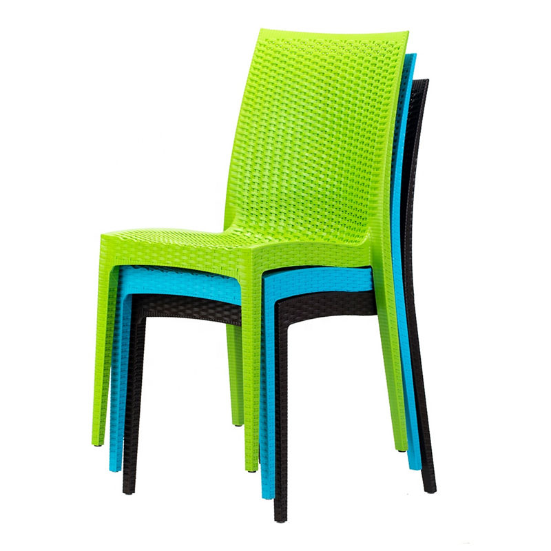 Garden Chair China Factory Outdoor Furniture Plastic Rattan with Armrest Modern Wholesale for Sale