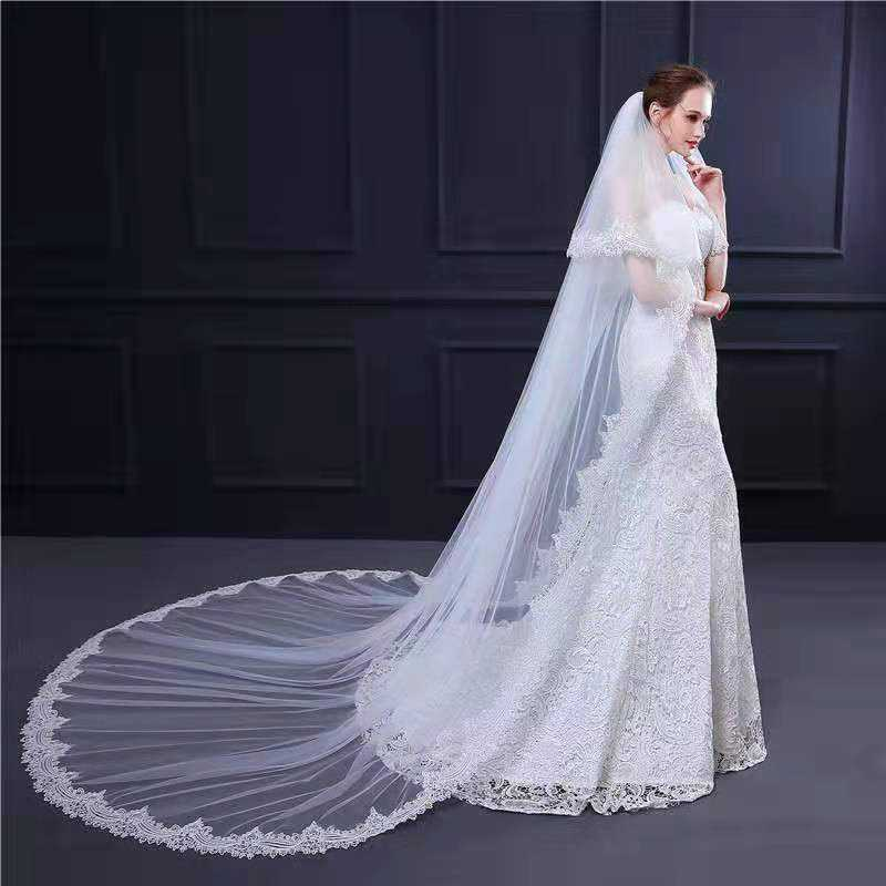 2019 new long Tulle Wedding Bridal Veils Tulle Bridal Veils